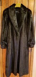 Mink Full Length Fur Coat L XL