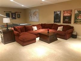 Sectional Sofa and coffee table and end table