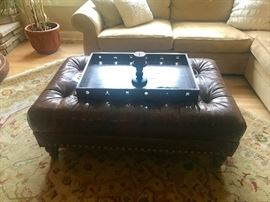 Ottoman coffee table and tray