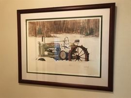 """My Old Deer"" signed print"