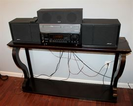 Console table, electronics - Bose, KLH, Onkyo