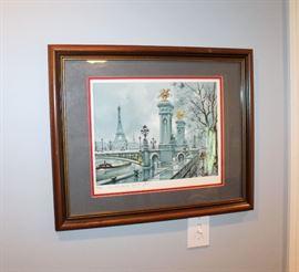 Framed print of Paris