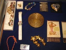 jewelry, burlesque calendar, compacts
