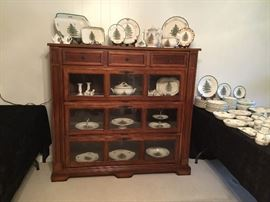 Spode and Beautiful Display Cabinet