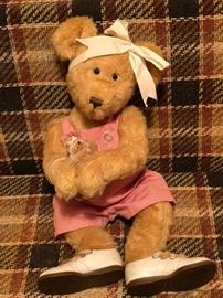 "Vintage Teddy Bear; 22"" possible Roddy Bear from 1930s.  Jointed legs & arms as well as a head that turns"