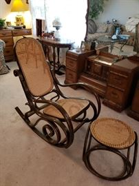 Bentwood Rocker and stool
