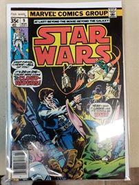 Vintage Star Wars comics.