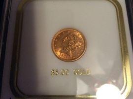 1907 Gold $5 Half Eagle