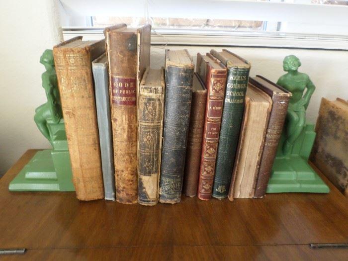 Antique Books & Art Deco Candleholders