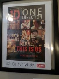 """One  Direction """"This is Us"""" Signed & Framed Poster"""