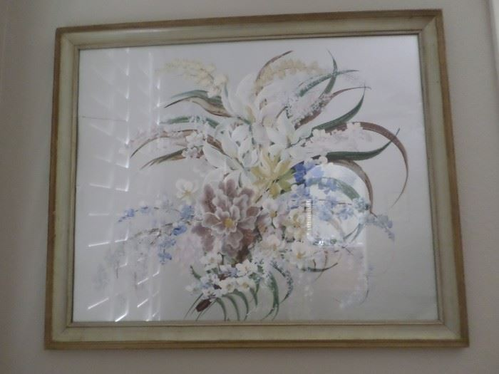 Reverse Floral Painting