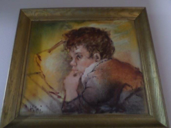Vintage Original Oil  Framed & signed