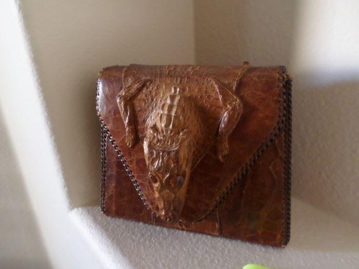 Circa 1950 Crocodile Handbag