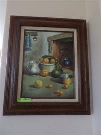 Framed Original Oil Still Life signed