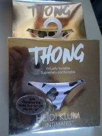 Heidi Klum Thongs, New in Package sold individually or in sets of 3