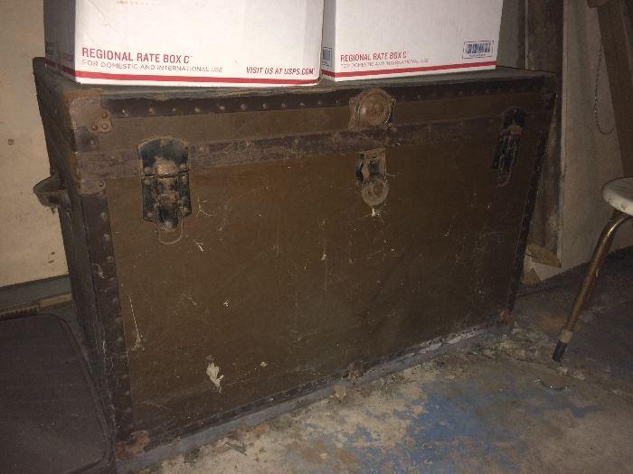 Large metal trunk