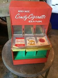 Miner-matic candy cigarette bank