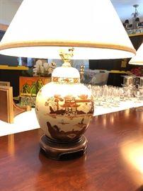 Pair Vintage oriental lamps