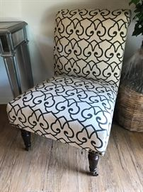 Armless Accent Chair Price $65 x 2
