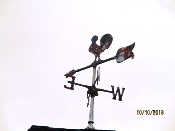 one of 2 weather vanes