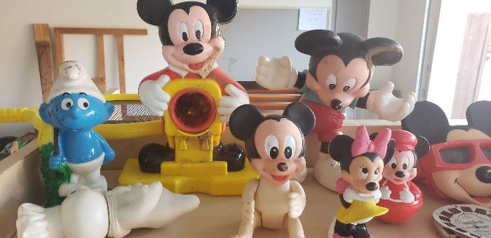 mickey minnie smurf collectible toys vintage