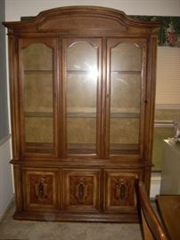 China Cabinet with interior light - also makes a great curio cabinet or bookshelf