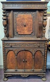 Gothic Bar/China Cabinet (mirrored inside)