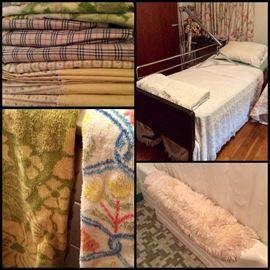 Vintage Linens/Blankets, Vintage Bath, Vintage Bathroom Items/Advertising & More