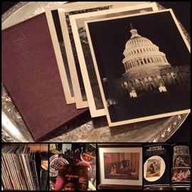 LP's, 45's, Vintage Books, Encyclopedia's, Readers Digest, National Geographic Collection,  Vintage Photos and Lots of Paper Ephemera - Post Cards, Advertising, Travel & More