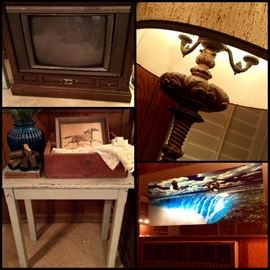 Lighting, Small Tables, Vintage Collectibles, Pictures/Artwork