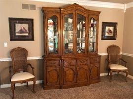 Thomasville country french china cabinet