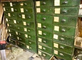 40 Drawer Antique wooden parts organiser from Shermans Amusement Park