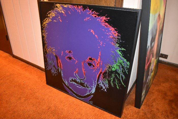 Steve Kaufman signed & numbered print on canvas with COA