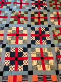 SEVERAL OLD QUILTS