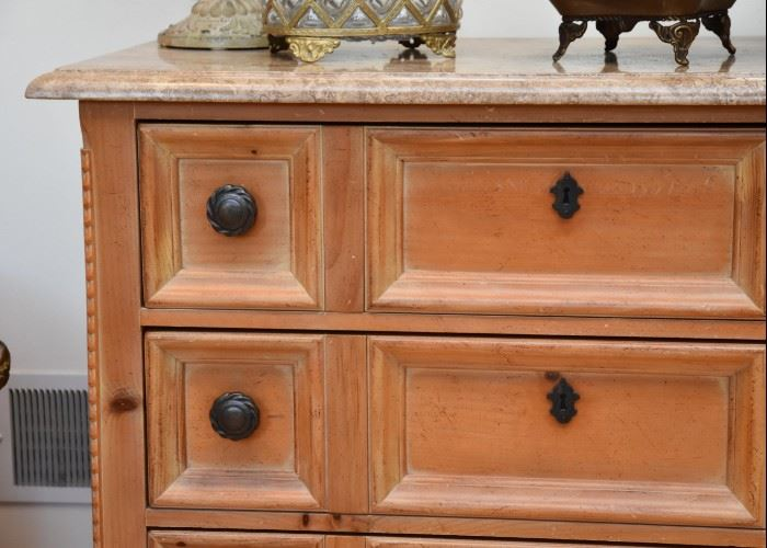 "3-Drawer Chest with Stone Top (Approx. 42"" L x 20"" W x 34.5"" H)"