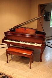 Beautiful Antique Baby Grand Piano