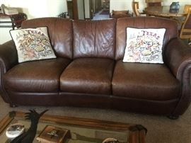 Leather Sofa in like new Condition