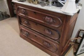 3 drawer chest carved knobs