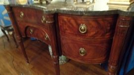 one of many marble top side-boards..$2,800