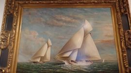 "original oil English artist approx 5'4'x3""3""$2,800"
