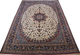 """PERSIAN ISFAHAN HAND WOVEN WOOL CARPET, H 8 FT 9"""", W 12 FT 10"""" Lot # 1061"""