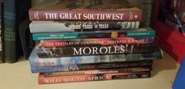 Beautiful coffee table books on pottery, travel, the West, Mexican pottery and more