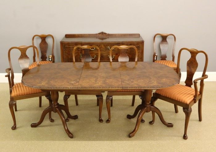 20th Century Eight Piece Dining Room Set by Gold Feather Products