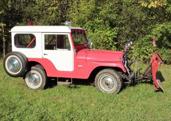 """1963 Jeep CJ-5 """"Tuxedo Park"""" with plow"""