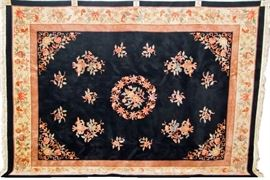 """Chinese Art Deco Style Wool Rug - Measures 9' x 12'6"""""""