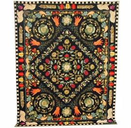 Claire Murray Hand Hooked Wool Rug - Harvest Collection vegetable pattern measuring 7' x 9'