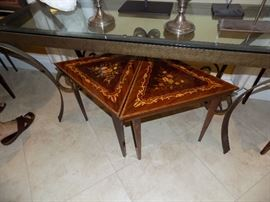 Italian Inlay Marquetry Tables, Set of 6