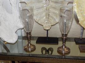 Antique Silver Oil Lamps
