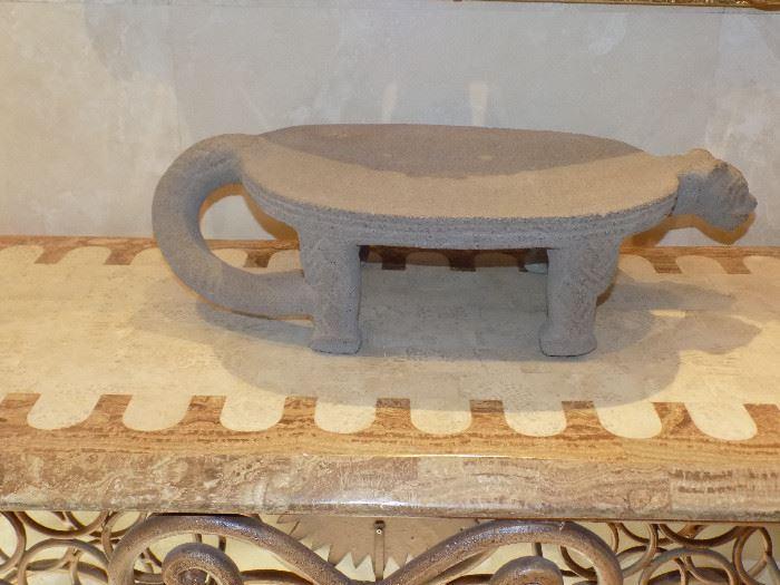 Pre-Columbian Stone Metate, Ceremonial Jaguar Metate