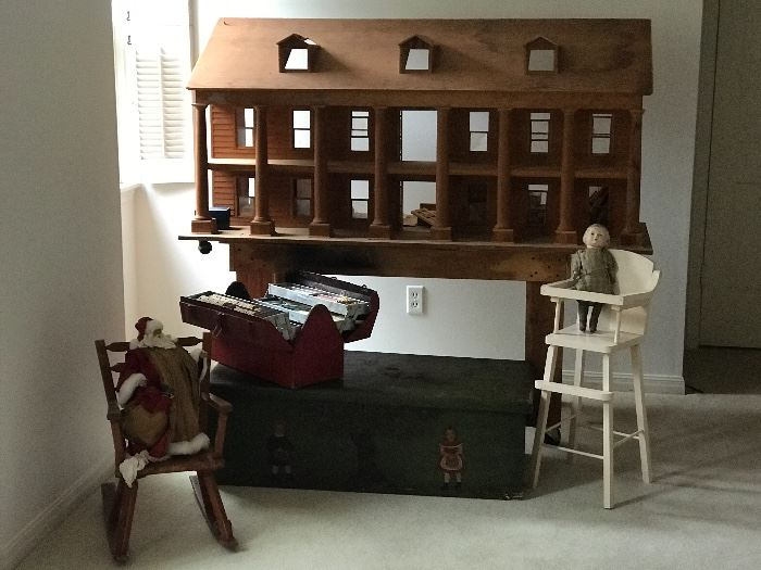 Fabulous and large old doll house to love